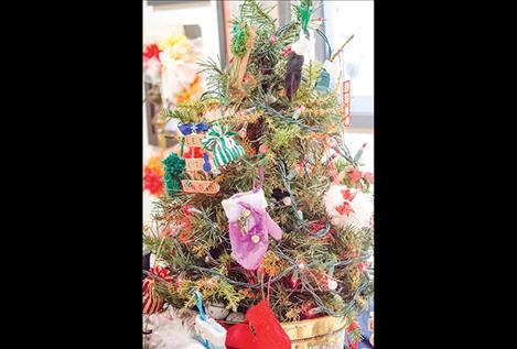 decorations were for sale at the holiday bazaar in Arlee on Saturday.