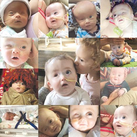 A compilation of photos depicts Emmett's life.