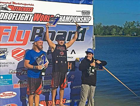 TJ Andrews takes first place at the  2017 World Hydroflight Championship finals in Florida after doing the first front flip in competition history.