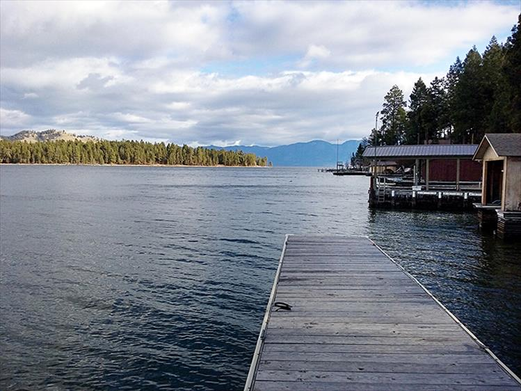 Dreamy view: A dock in Big Arm points toward Dream Island.