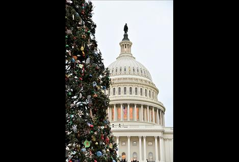 Victoria Scordato photo Three-thousand handmade decorations from Montanans adorn the Capitol Christmas Tree.