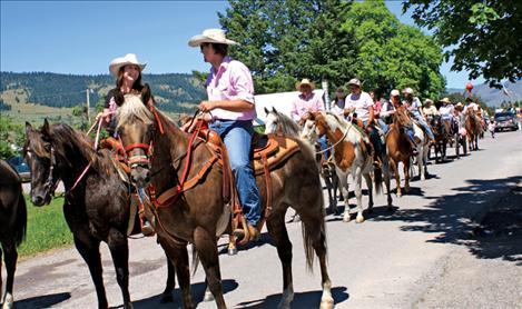 Spur the Cancer Out of Montana's parade entry consisted of nearly 50 riders and horses dressed in pink.