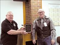 Wiebke honored for 10 years of volunteer service to E-911 Center