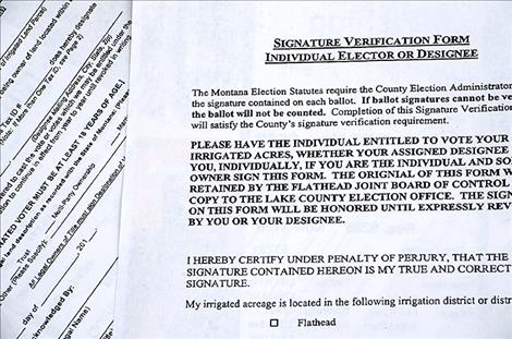 Election administrator clarifies irrigation forms