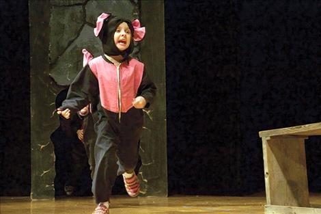 Cora Dowdy plays one of the mice in Friday night's performance.