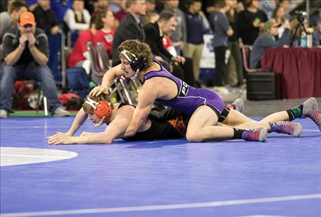 Parker Adler  is one of  two Polson  wrestlers to  make it to the  championship round.
