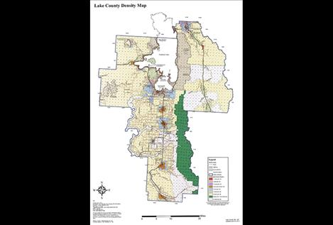 Lake County Density Map