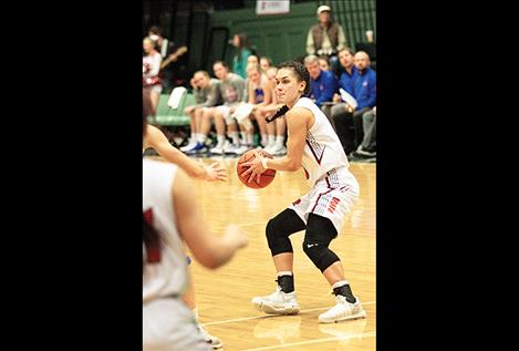 Despite the Maidens' loss, Ronan's Micalann McCrea scored 25 points against Columbia Falls.