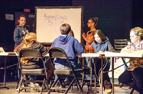 Ronan students go up against Charlo during the academic bowl.