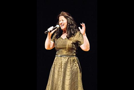 "Third place finisher Cammy Maughan hits the high notes during her performance of ""One and Only,"""