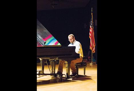 "Second place finisher Josiah Pettit performs ""Ballade"" by Debussy."