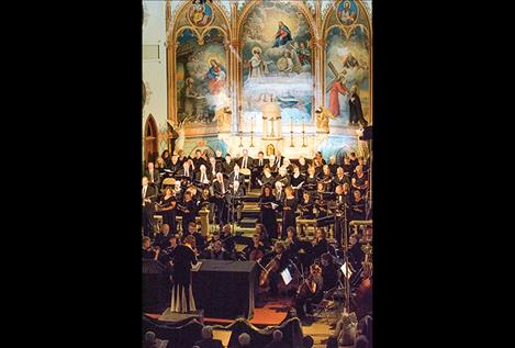 People pack into the Mission Church to hear the musical performance. See more photos at www.valleyjournal.net.
