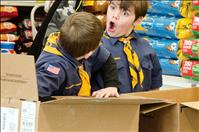 Cub Scouts raise money to help food pantry