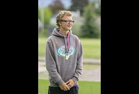 Polson Pirate Johnny Moore places fifth at the State Tennis Tournament in Polson.