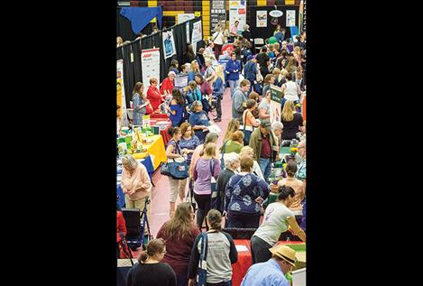 Hundreds of women and some men attend the health fair on Thursday.