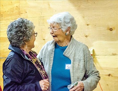 Volunteers and donors talked about how many years they've volunteered at the food pantry, many counted more than 10.