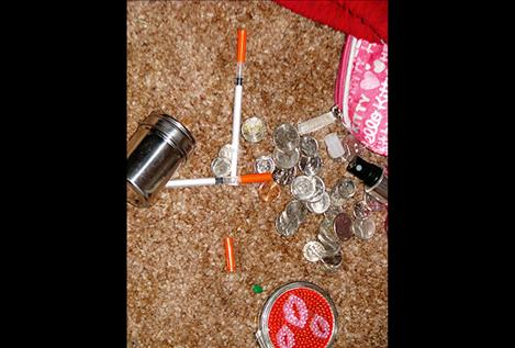 Methamphetamine and various drug paraphernalia were discovered by Polson Police Officers on June 1.
