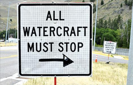 People with watercraft must stop at the check station in Ravalli if they pass by to be inspected for AIS.