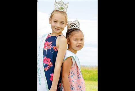 Lola Schock, left, and Amani Antoine, right,   are going to Texas  in July to represent  Montana in the  2018 World's Our Little Miss pageant.