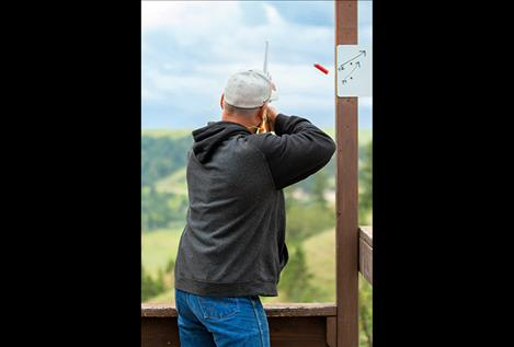Chamber Blast fundraiser participants shoot at clay targets, above and top.