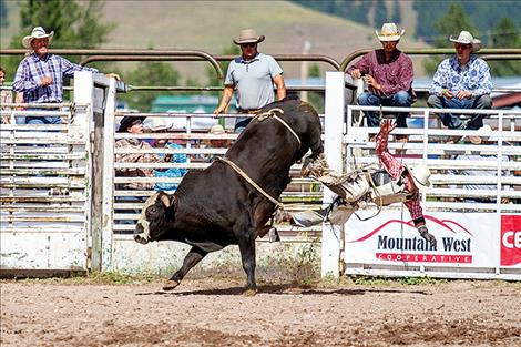 Bulls get 10 and cowboys get one during the Arlee Rodeo.