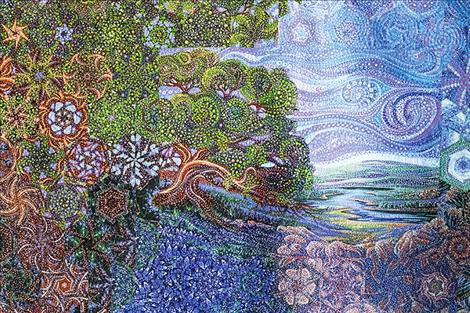 """Terri Duncan's quilt, """"Reflections,"""" won Overall Champion in the 2018 Mission Mountain Quilt Guild Quilt Show."""
