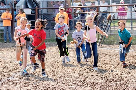 A group of youngsters were off and running during the Kids City Slickers Rodeo.