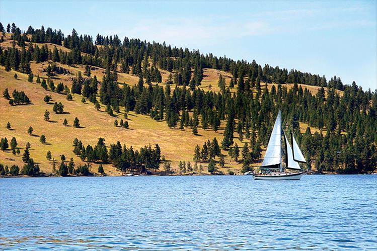 Recent breezes create the perfect afternoon for a sail on Flathead Lake.