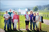 Walking path developed by school volunteers, donations