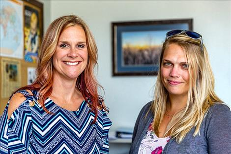 Amy Fantozzi, left, manager of Lincoln County's behavioral health network, and Jennifer McCully, the county's public health manager, have been key in helping the county respond to the closing of Western Montana Mental Health Center's Libby office at the start of 2018. Their efforts have included leading a coalition of local mental health care and related service providers.