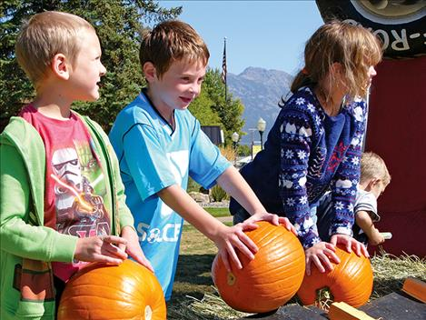 Pumpkin bowling was one of many children's activities held.