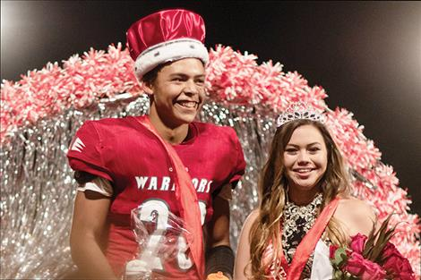 2018 Homecoming King Darshan Bolen and Queen Frankie Wright.