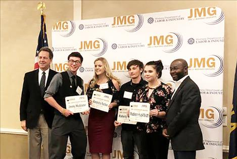 National Student Leadership delegates: Jimmy McAlister, Paris Gibson Education Center; Alexandra Pehlke, Glasgow High School; Raferdy Samson, Hot Springs High School; Madison Huckfeldt, Granite High School