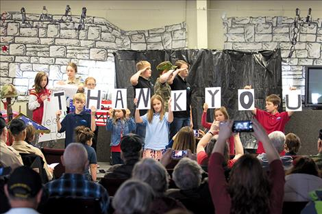 Glacier View School students say thank you to area veterans.