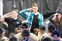 Students salute area veterans for their service