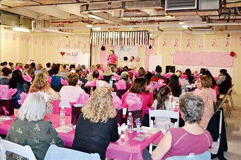 Over 130 men and women attended the third annual Bingo for Breast Health event at St. Luke Community Healthcare.