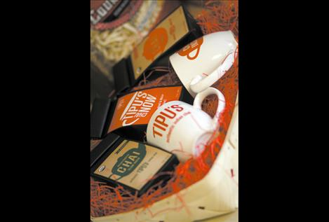 A box filled with Tipu's Chai Tea awaits a new owner at the processing facility in Polson. Co-founder Bipin Patel said the tea was a family recipe that he sold to coffee and tea shops in Missoula while running his traditional Indian food restaurant, Tipu's Tiger. Once the restraunt closed after ten years of business, Patel said he saw a lot of potential in the chai tea recipe, and Tipu's Chai Tea was born.