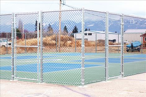 Pickleball courts at O'Malley Park.