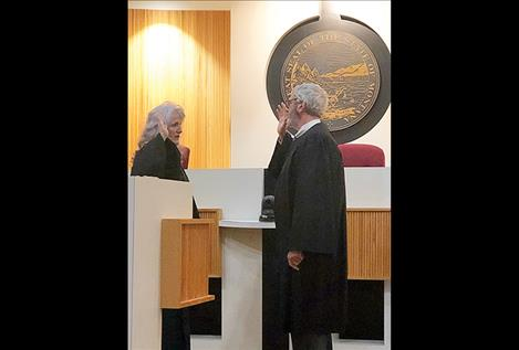 Judge Christopher takes oath