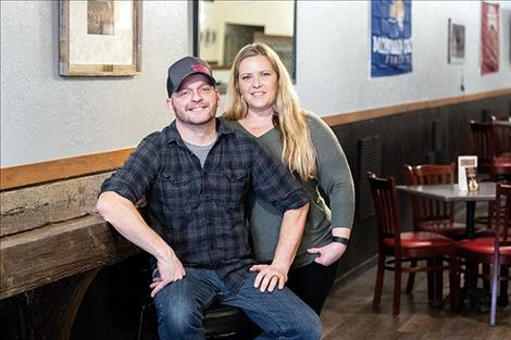 Dusty and Mandy Kisler own Perfect Shot Tavern in downtown Polson.