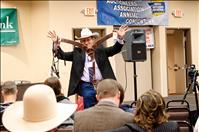 Goedert sells his way to championship buckle in auctioneer contest