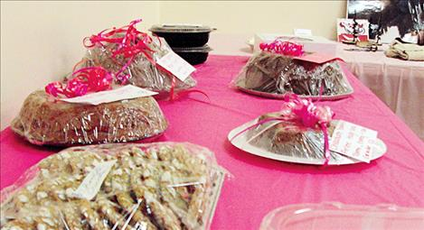 Chocolate treats wait to be auctioned to support youth in Arlee.