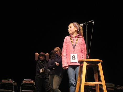 St. Ignatius sixth grader Lola Schock battles in the spelling bee as the tension increases.
