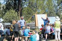 Children learn from elders at River Honoring