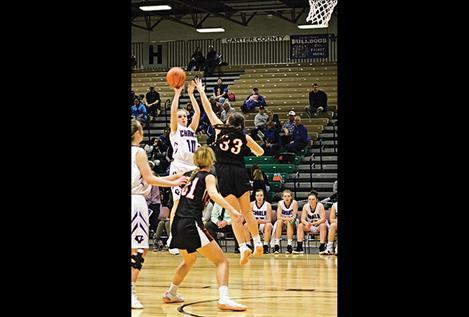 Charlo Lady Vikings compete during the Class C Girls State Basketball Tournament in Great Falls.