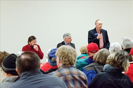 Joe Read, Dan Salomon and Greg Hertz speak to their constituents about Montana's 2019 legislative session.