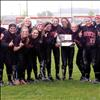 Ronan Maidens Danielle Richwine, Amanda Morency, Sam Coleman, Larissa Waters (manager), Jordyn Clairmont, Alaina Madsen, Kaitlyn Sassaman, Kendra Starkel, Ashleigh Lynch, McKenzie Dulmes, Madison Barber, Jasmine Bocksnick and Courtney Taylor show off their Western B-C divisional softball championship plaque. The Maidens are headed to state starting Thursday in Great Falls.