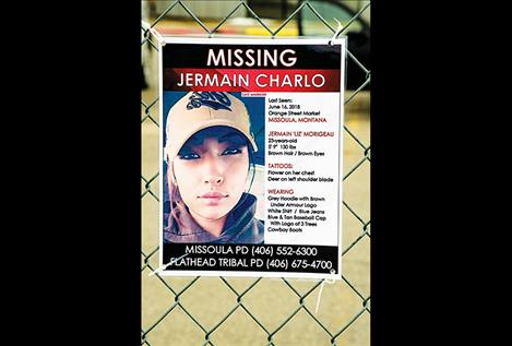 Jermain Charlo's photo was among the MMIW photos on the fence at Two Eagle River School.