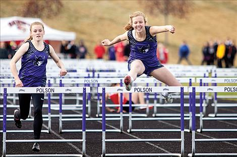 Lady Viking Kaitlin Cox and Carlee Frybeger race their way to a Dave Tripp Memorial championship.