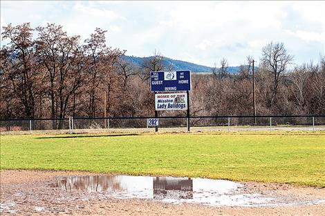The MAC Lady Bulldogs' field is slowly drying out after being under water last week.